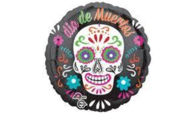 "18"" Day of the Dead Foil - Balloon Express"