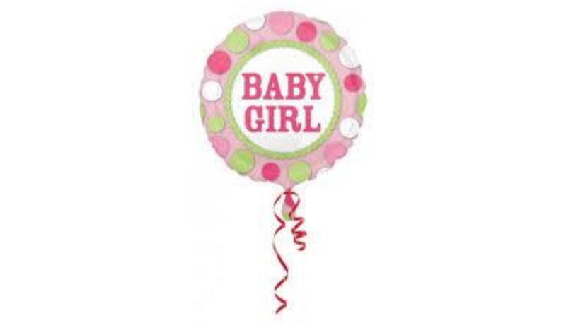"18"" Baby Girl Polka Dot - Balloon Express"