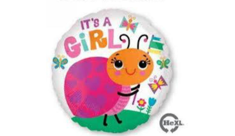 "It's a girl ladybug foil 18"" - Balloon Express"