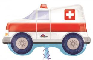 "S/S NON LICENSED FOIL:  33"" Ambulance Foil - Balloon Express"