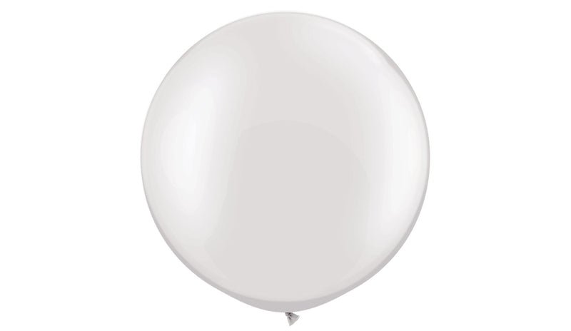 Pearl White - Helium Inflated - Balloon Express