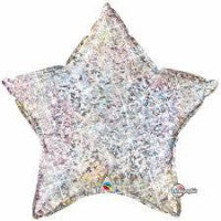 "20"" Star Silver Holographic FOil - Balloon Express"