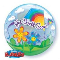 "Get Well Soon Bubble 22"" - Balloon Express"