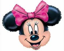 S/S LICENSED MYLARS: Minnie Head - Balloon Express