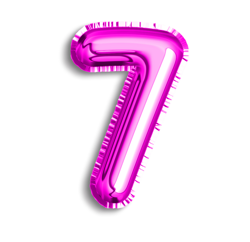 Number 7 Foil - Balloon Express