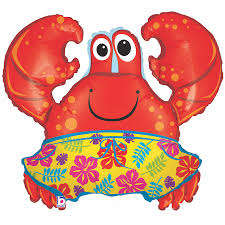 S/S LICENSED MYLARS: Little Mermaid Crab - Balloon Express