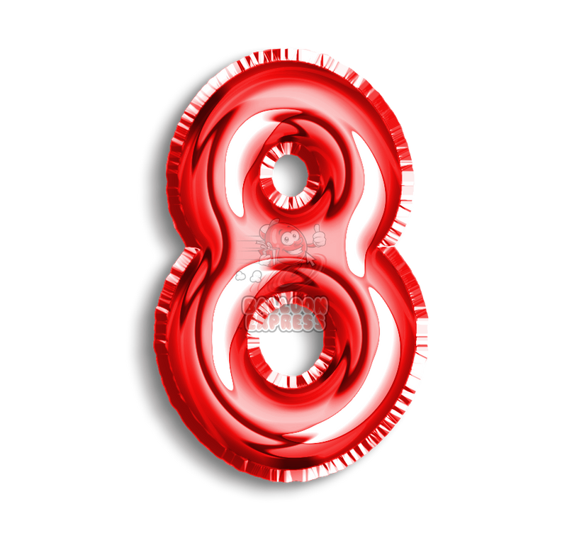 Number 8 Foil - Balloon Express
