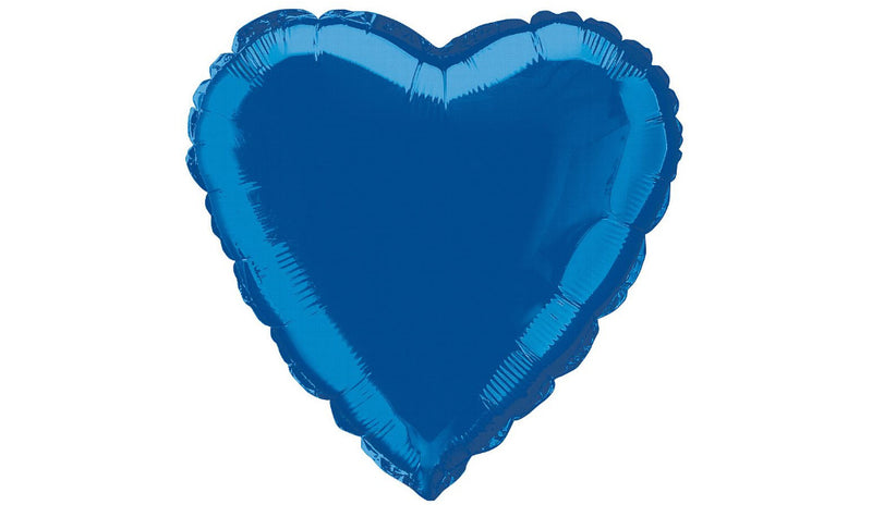 Royal Blue Heart Foil - Balloon Express
