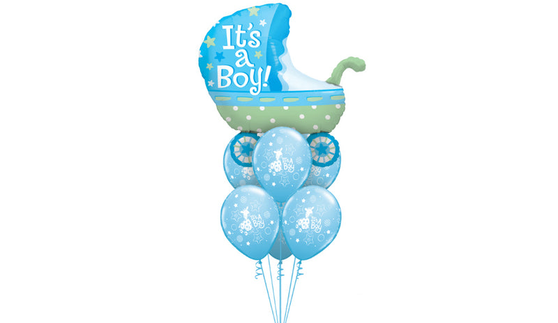 Baby Boy Blue Stroller - Balloon Express