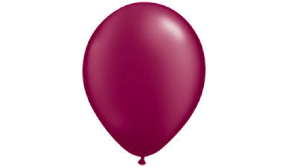 Burgundy Helium Inflated - Balloon Express