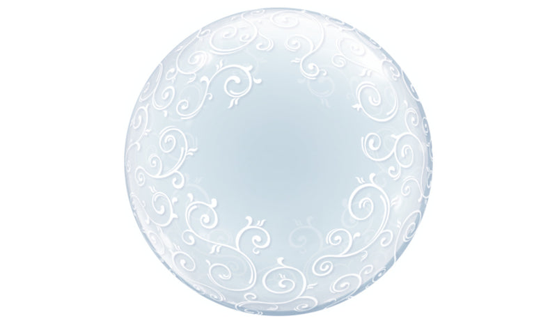 "BUBBLES: Deco Bubble 24"" fancy filigree - Balloon Express"
