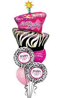Funky Birthday Cake Surprise bouquet - Balloon Express