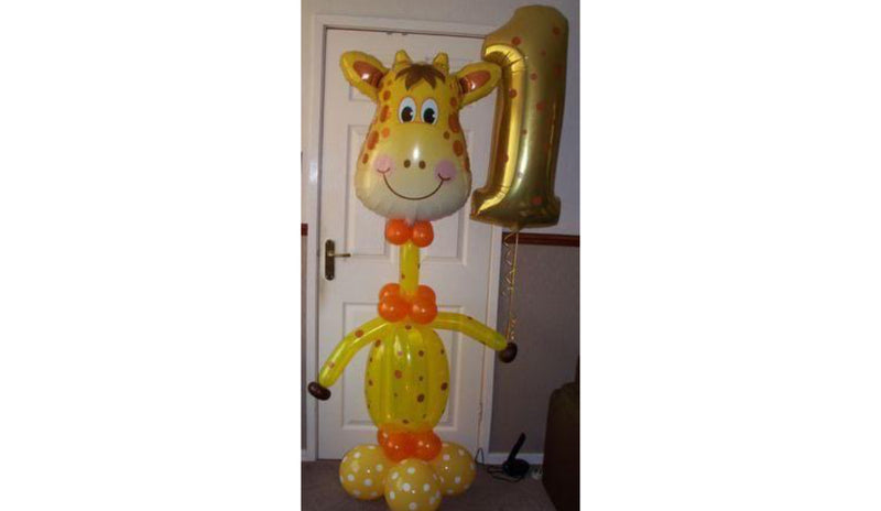 Giraffe w/ Body + Super Shape Number - Balloon Express