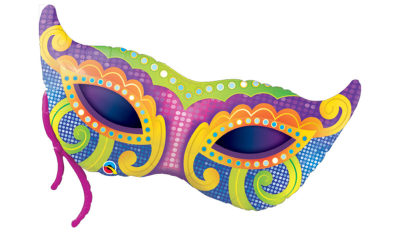 Mardi Gras Mask Inflated - Balloon Express
