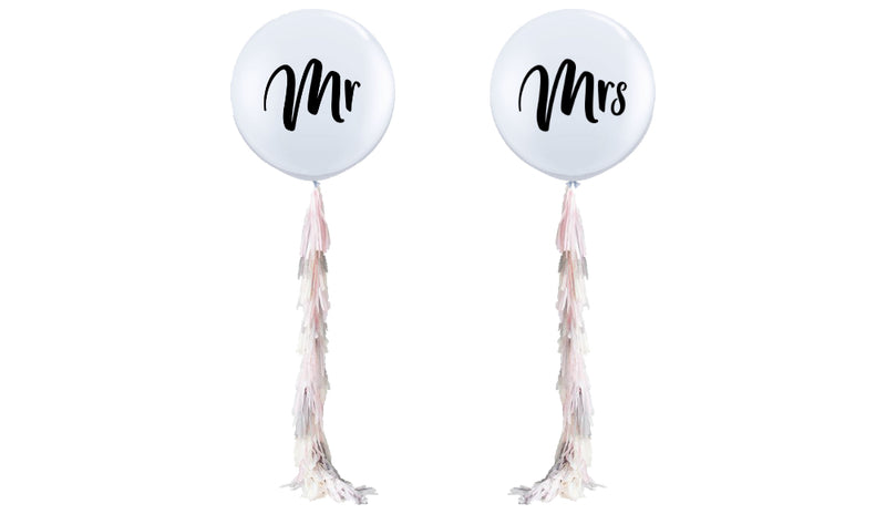 Mr. & Mrs. w/ Tassels