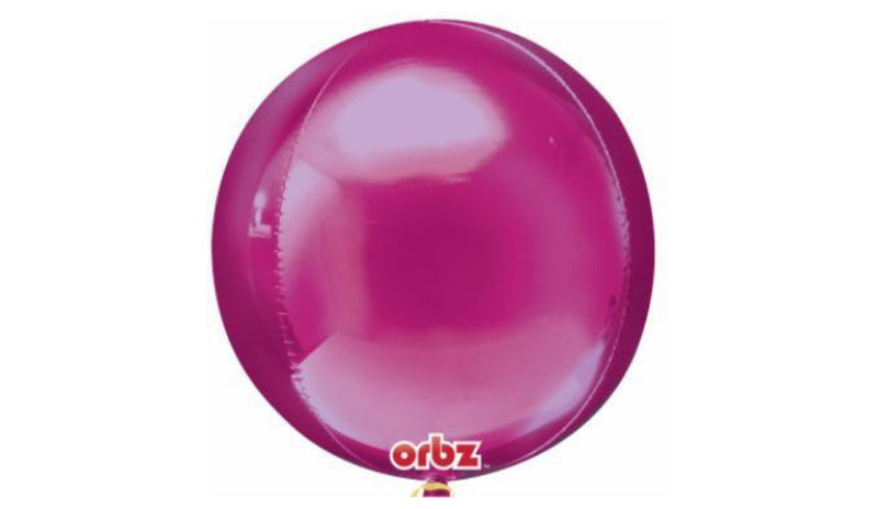 Orbz Foil Balloon - Bright Pink - Balloon Express