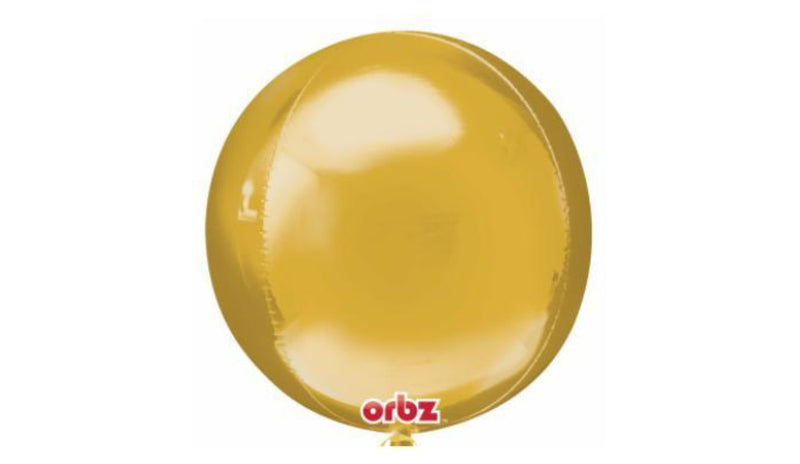 Orbz Foil Balloon - Gold - Balloon Express