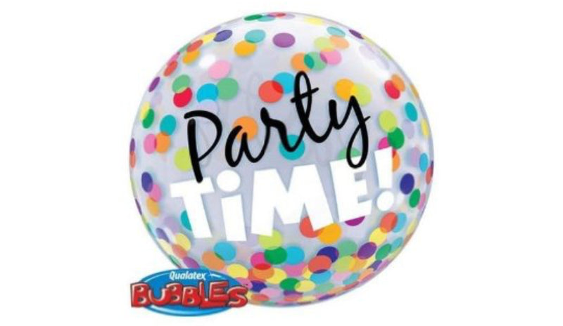 "Party time Colourful Dots 22"" Bubble - Balloon Express"