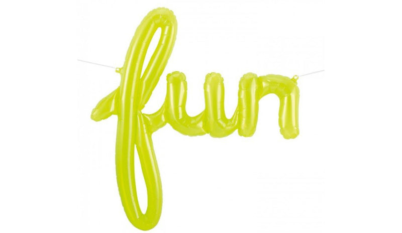 Script Lettering FUN Lime Green - Balloon Express