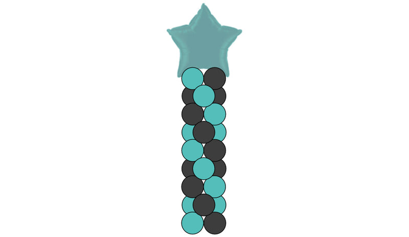 8 Layer Column - Classic or Shape Topper - Balloon Express