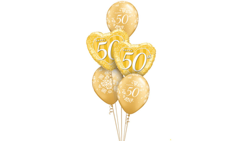 Happy 50th Anniversary Gold - Balloon Express