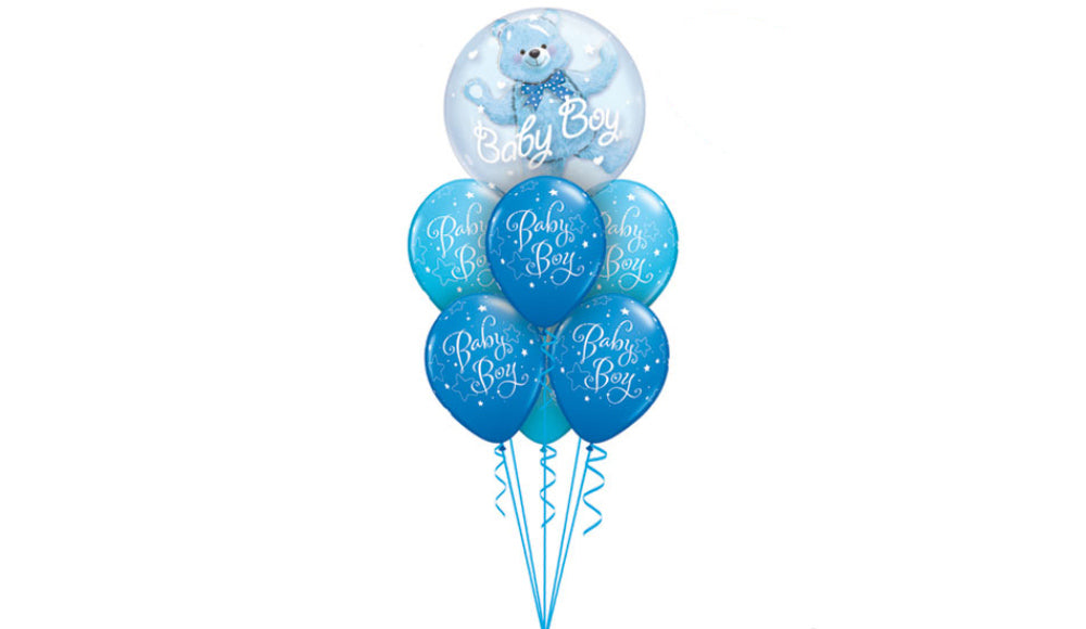 Baby Boy Deco Bubble - Balloon Express