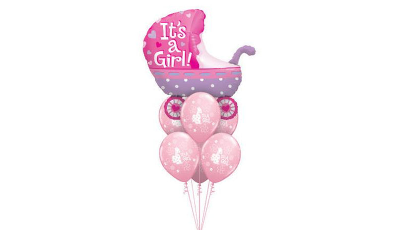 Baby Girl Pink Stroller - Balloon Express