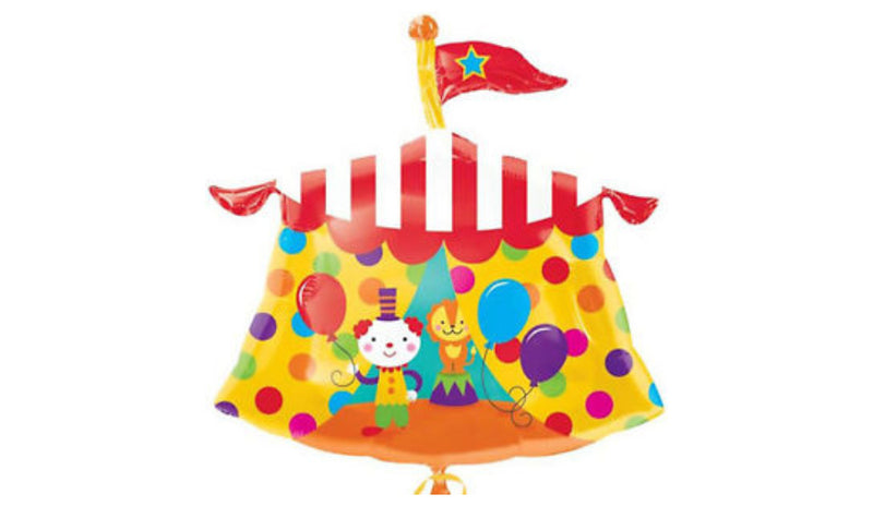 S/S NON LICENSED MYLARS: Circus Tent - Balloon Express