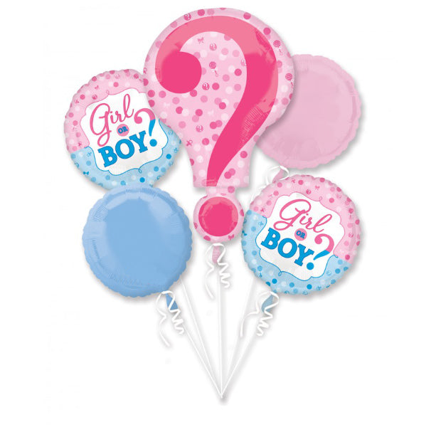 Gender Reveal Foil Bouquet - Balloon Express