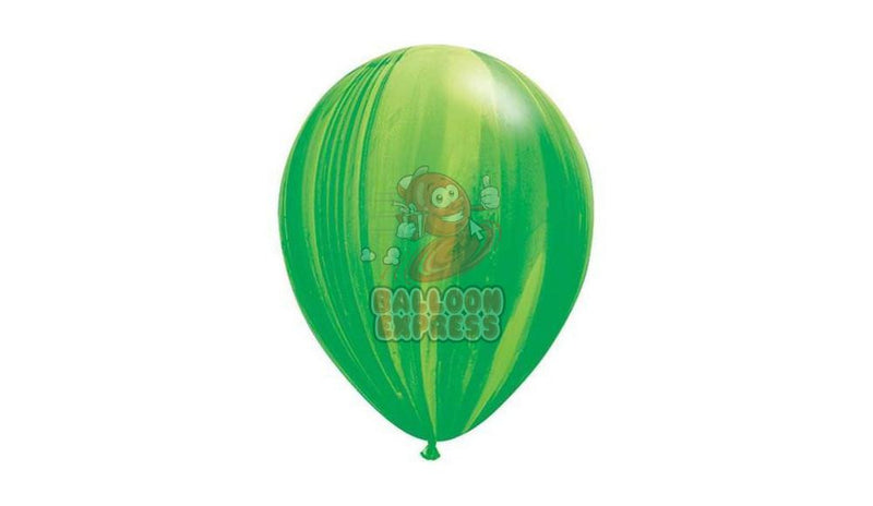 "11"" Green Agate- Helium Inflated - Balloon Express"
