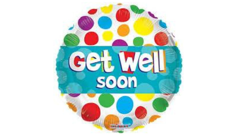 "18"" Get Well Soon Dots Foil"