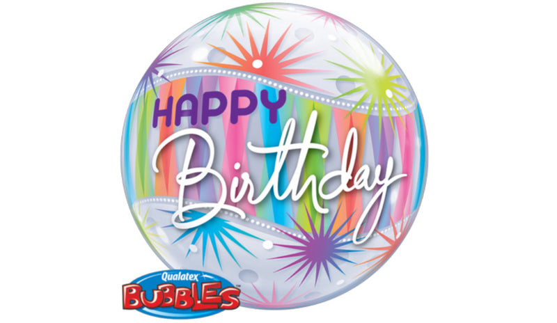 "Birthday Sorbet Starblast 22"" Bubble - Balloon Express"