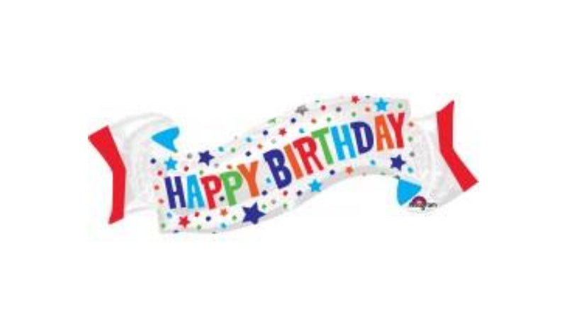 Super Shape Happy Birthday Foil Banner