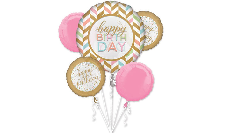 Pastel Confetti Happy Birthday Foil Bouquet - Balloon Express