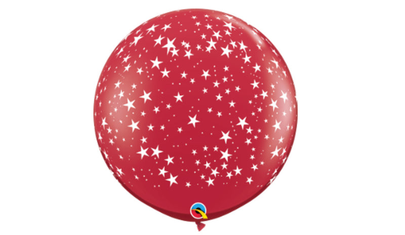 "stars a round Red 36"" - Balloon Express"