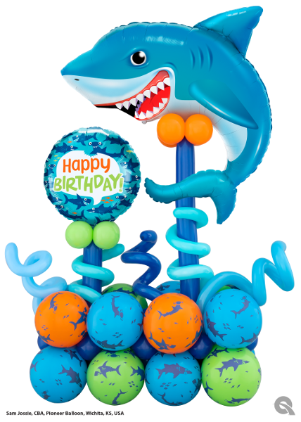 Shark Birthday Sculpture