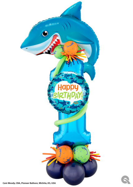 Shark 1st Birthday Sculpture