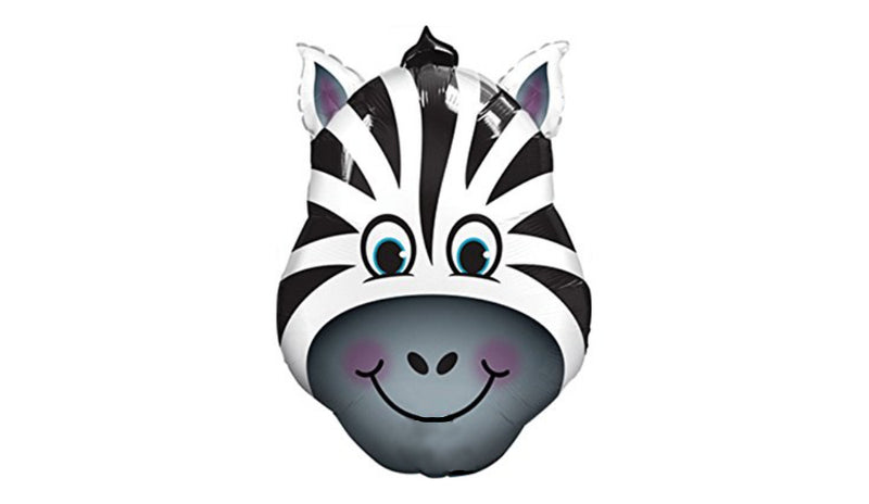 "36"" Super Shape Zebra Head - inflated - Balloon Express"