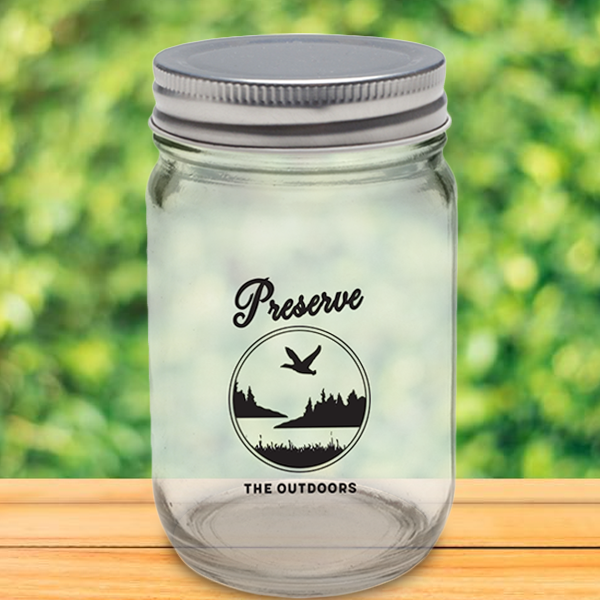 Preserve the Outdoors Mason Jar