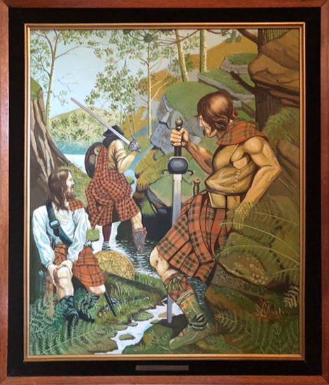 Scottish Tartan Painting
