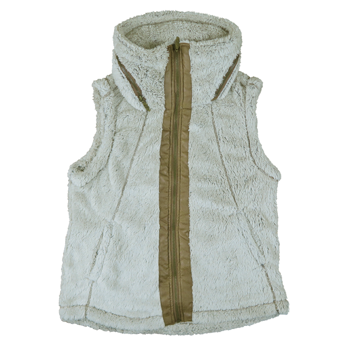 Ladies Fur Fleece Vest