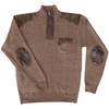 Men's 1/4 Zip Sweater w/ Leather Patches