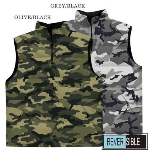 Reversible Camo Bubble to Fleece Vest
