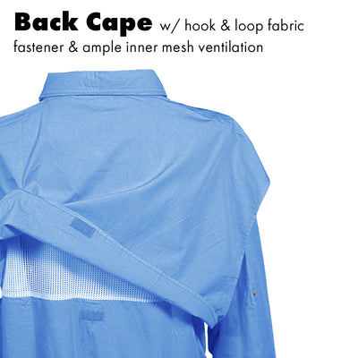 Classic Poplin Fishing Shirt - Long Sleeve