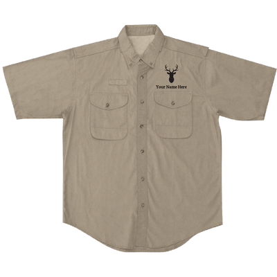 Custom Fishing Shirt - Deer (Short Sleeve)