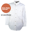 HOLIDAY SPECIAL - White Poplin Fishing Shirt