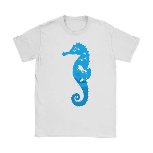 Sea Horse Diver Womens T-Shirt - KOBU.US