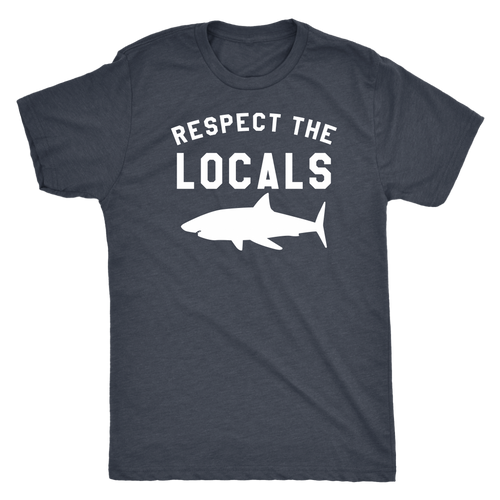 Respect The Locals Men's Shark T-Shirt - KOBU.US