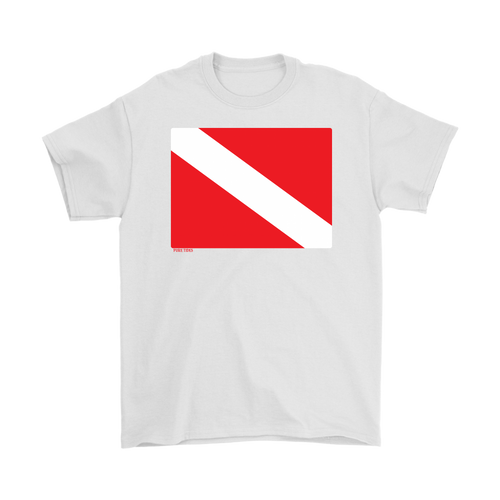 Diver Down Flag Men's Diving T-Shirt - KOBU.US