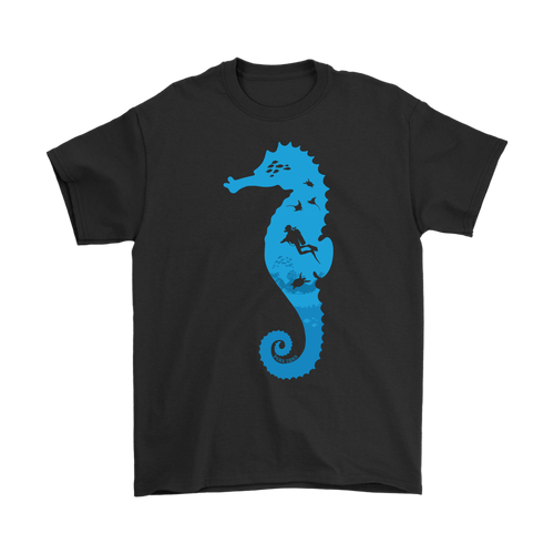 Sea Horse Diver Mens T-Shirt - KOBU.US